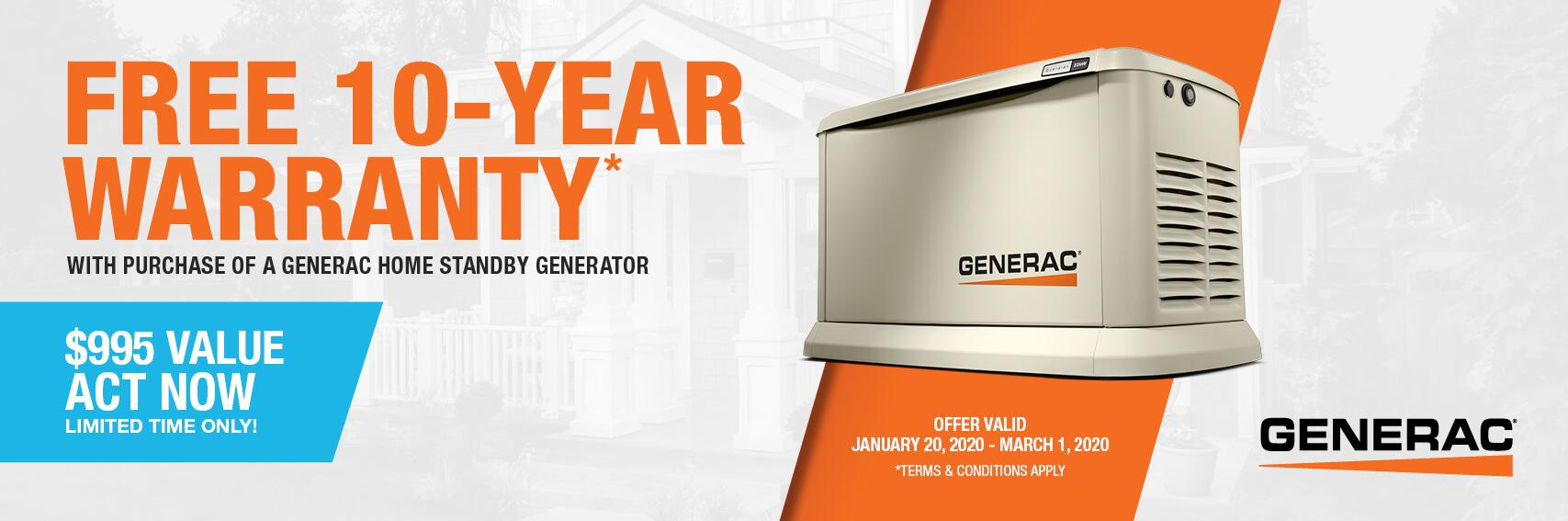 Homestandby Generator Deal | Warranty Offer | Generac Dealer | Jenison, MI